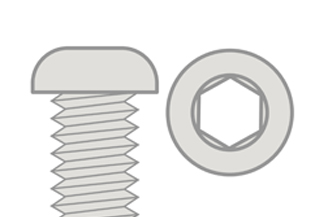 Hex Button Head - Titanium