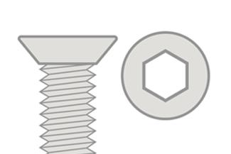 Hex Flat Head - Titanium