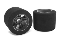 Team Corally - Attack foam tires - 1/8 Circuit - 32 shore - Rear - Carbon rims - 2 pcs