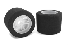 Team Corally - Attack foam tires - 1/8 Circuit - 35 shore - Rear - Light rims - 2 pcs