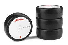 Team Corally - Attack RXC rubber tires - 1/10 EP touring - 32 shore - Carpet - 4 pcs