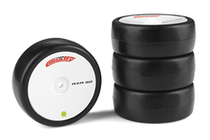 Team Corally - Attack RXA rubber tires - 1/10 EP touring - 32 shore - Asphalt - 4 pcs