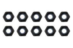 Team Corally - Steel Nylstop Nut M3 - Black Coated - 10 pcs
