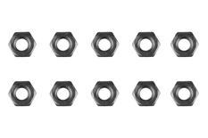 Team Corally - Steel nut M3 - Black coated - 10 pcs