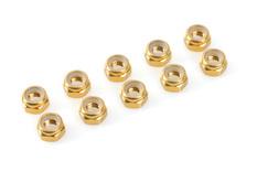 Team Corally - Aluminium Nylstop Nut - M3 - Gold - 10 pcs