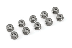 Team Corally - Aluminium Nylstop Nut - M3 - Gun Metal - 10 pcs