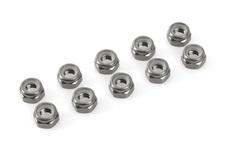 Team Corally - Aluminium Nylstop Nut - M4 - Gun Metal - 10 pcs