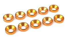 Team Corally - Aluminium Washer - for M5 Flat Head Screws - OD=12mm - Gold - 10 pcs