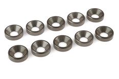 Team Corally - Aluminium Washer - for M5 Flat Head Screws - OD=12mm - Gun Metal - 10 pcs