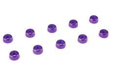 Team Corally - Aluminium Washer - for M2 Socket Head Screws - OD=6mm - Purple - 10 pcs
