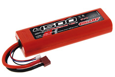Team Corally - Sport Racing 45C - 4500 mAh - 7,4V 2S - Competition Li-Po Battery Pack - Stick Hardcase - 12AWG Wire - T-Plug Connector
