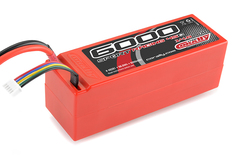 Team Corally - Sport Racing 45C - 6000 mAh - 14,8V 4S - Competition Li-Po Battery Pack - Stick Hardcase - 12AWG Wire - T-Plug Connector