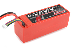 Team Corally - Sport Racing 45C - 4500 mAh - 22,2V 6S - Competition Li-Po Battery Pack - Stick Hardcase - 12AWG Wire - T-Plug Connector