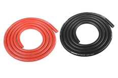 Team Corally - Ultra V+ Silicone Wire - Super Flexible - Black and Red - 10AWG - 2683 / 0.05 Strands - ODø 5.5mm - 2x 1m