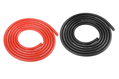 Team Corally - Ultra V+ Silicone Wire - Super Flexible - Black and Red - 14AWG - 1018 / 0.05 Strands - ODø 3.5mm - 2x 1m