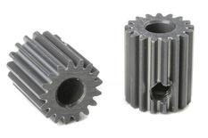 Team Corally - 64 DP Pinion - Short - Hard Anodised AL7075 - 17 Teeth - Shaft Dia. 3.17mm