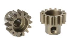Team Corally - M1.0 Pinion - Short - Hardened Steel - 14 Teeth - Shaft Dia. 5mm