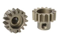 Team Corally - M1.0 Pinion - Short - Hardened Steel - 15 Teeth - Shaft Dia. 5mm